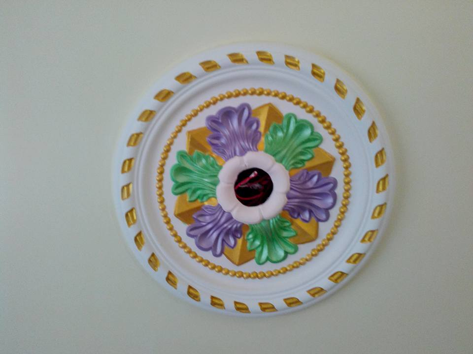 Gypsum Decoration Interior False Ceiling Rose Design ...